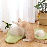 Avocado Cat Scratcher with Cat